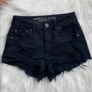 American Eagle high rise festival shorts